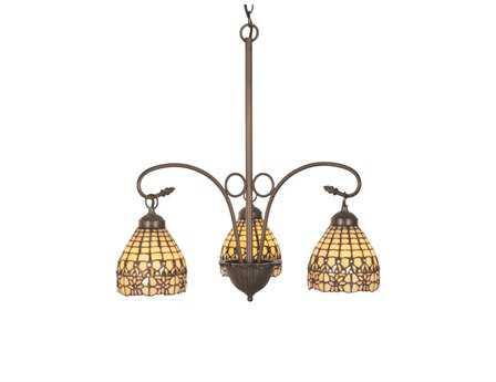 Meyda Tiffany Victorian Flourish Three-Light 21 Wide Grand Chandelier