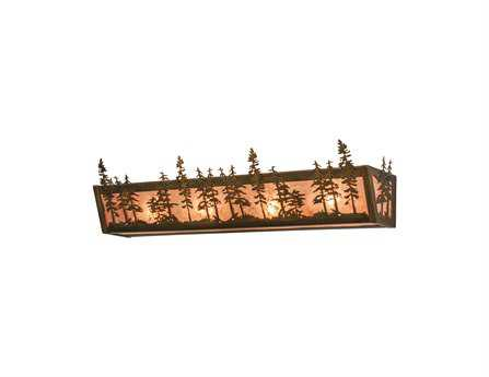 Meyda Tiffany Tall Pines Four-Light Vanity Light