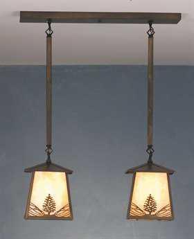 Meyda Tiffany Mountain Pine Two-Light Island Light