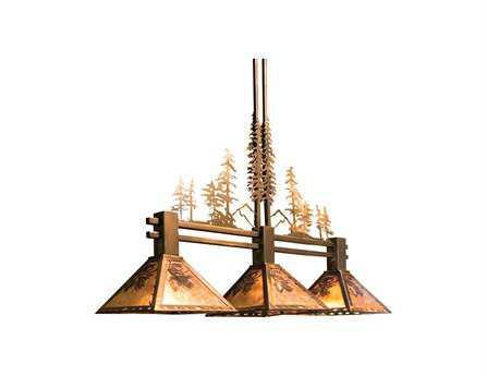 Meyda Tiffany Winter Pine Tall Pines Three-Light Island Light