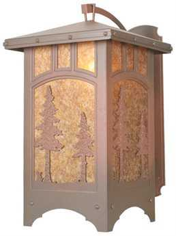 Meyda Tiffany Tall Pines Curved Arm Outdoor Wall Light