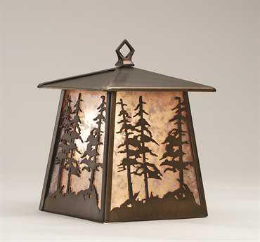 Meyda Tiffany Tall Pines Hanging Outdoor Wall Light