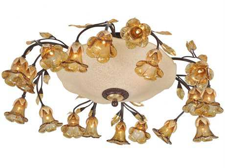 Meyda Tiffany Celestial Bouquet 18 Arm 20-Light Flush Mount Light