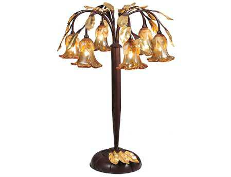 Meyda Tiffany Brown Celestial Bouquet Table Lamp