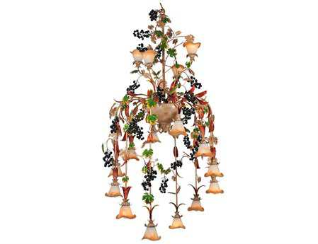 Meyda Tiffany Symphony Grape 16-Light 40 Wide Chandelier