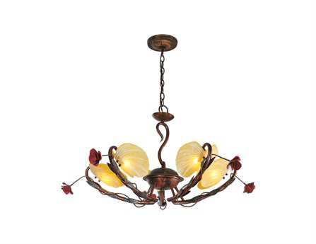 Meyda Tiffany Rose Coils Five-Light 32 Wide Chandelier