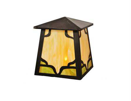 Meyda Tiffany Kirkpatrick Craftsman Outdoor Post Mount Light