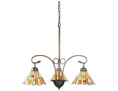 Meyda Tiffany Jadestone Delta Three-Light 24 Wide Grand Chandelier