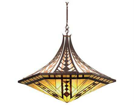 Meyda Tiffany Sonoma Inverted Three-Light Pendant