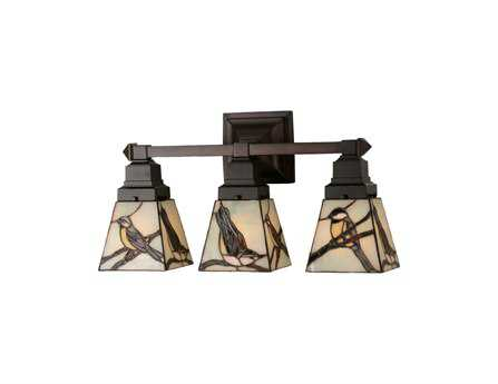 Meyda Tiffany Early Morning Visitors Three-Light Wall Sconce