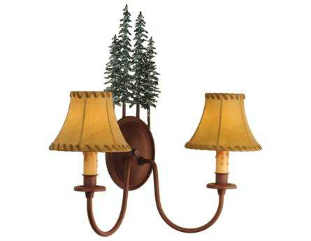 Meyda Tiffany Tall Pines Two-Light Wall Sconce