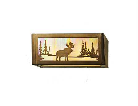 Meyda Tiffany Moose At Lake Two-Light Vanity Light