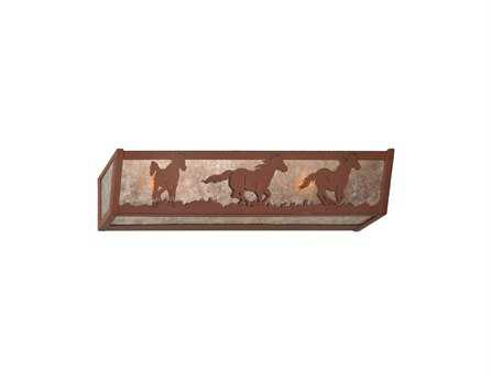 Meyda Tiffany Wild Horses Four-Light Vanity Light