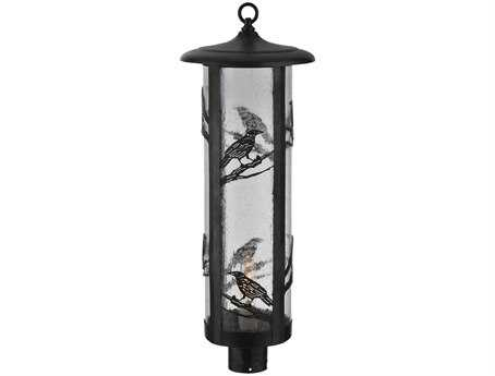 Meyda Tiffany Fulton Raven Zasdy Craftsman Outdoor Post Mount Light