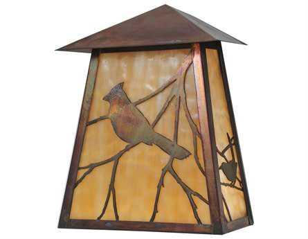 Meyda Tiffany Stillwater Song Bird Outdoor Wall Light