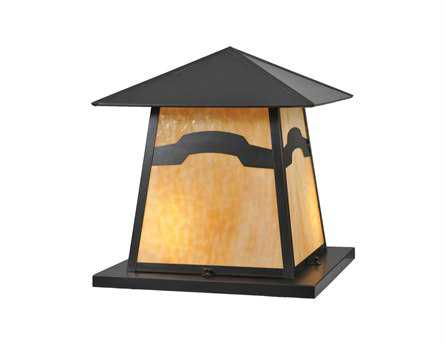 Meyda Tiffany Stillwater Mountain View Beige Iridescent Two-Light Outdoor Pier Mount Light