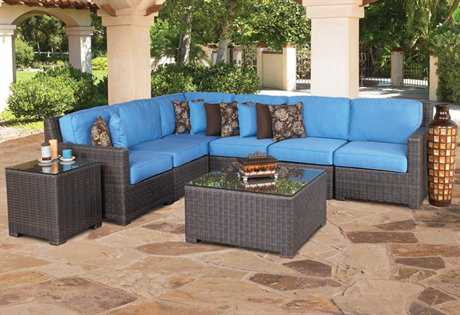 Forever Patio Hampton Wicker Conversation Sectional Lounge Set