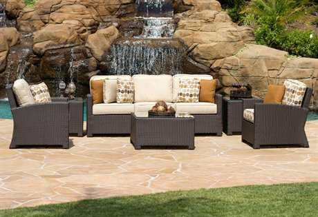 Forever Patio Barbados Wicker Lounge Set with Coffee Table