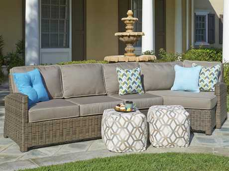 Forever Patio Cypress Wicker Conversation Patio Lounge Set