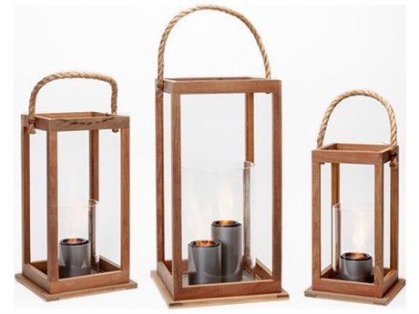 Forever Patio Tripoli Teak Wood Brisbane 25 inch 2 Burner Lantern PatioLiving
