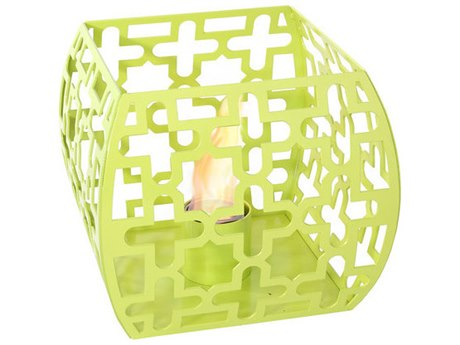Forever Patio Marakesh Steel Lantern in Sweet Lime