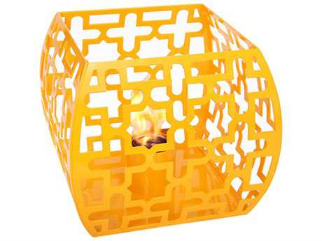 Forever Patio Marakesh Steel Lantern in Turmeric