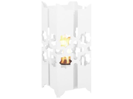 Forever Patio Small Lantern in White PatioLiving