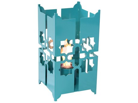 Forever Patio Tripoli Large Lantern in Turquoise