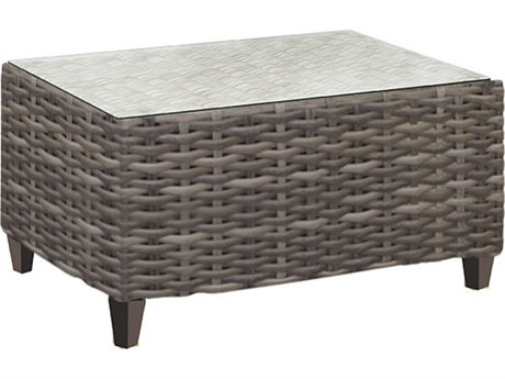 Forever Patio Aberdeen Rye Wicker 43 x 24 Rectangular Coffee Table