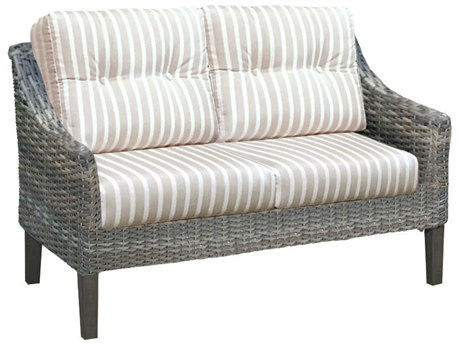 Forever Patio Quick Ship Aberdeen Rye Wicker Loveseat