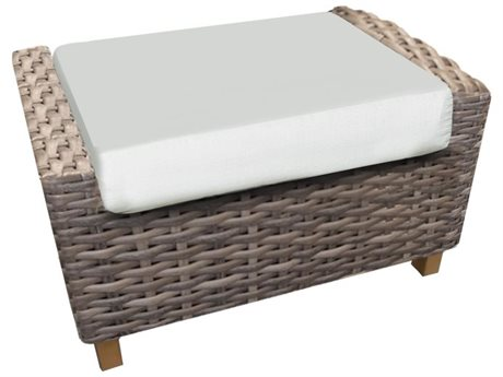 Forever Patio Quick Ship Aberdeen Rye Wicker Ottoman