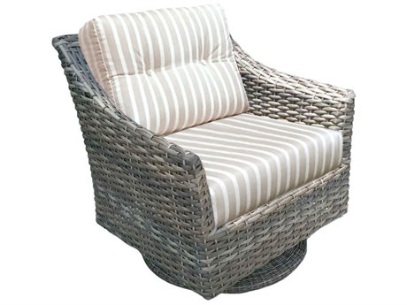 Forever Patio Quick Ship Aberdeen Wicker Rye Swivel Rocker