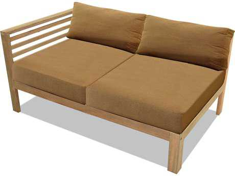 Forever Patio Anaheim Reclaimed Teak Sectional Left Arm Loveseat