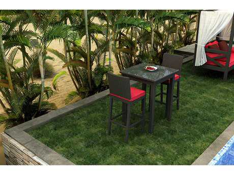 Forever Patio Barbados Wicker 3 Piece Bar Set