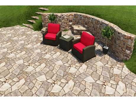 Forever Patio Barbados Wicker 3 Piece Chat Set