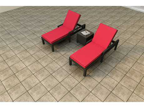 Forever Patio Quick Ship Barbados Ebony Wicker Three-Piece Lounge Set
