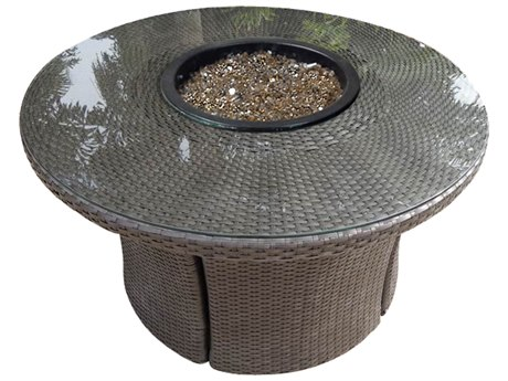 Forever Patio Barbados Ebony Wicker 42 Round Fire Table