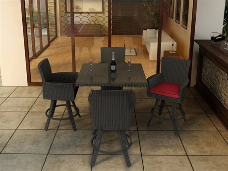Forever Patio Barbados Wicker Thick 5 Piece Counter Set