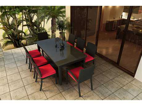 Forever Patio Barbados Wicker 9 Piece Dining Set