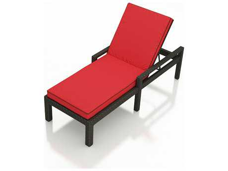 Forever Patio Quick Ship Barbados Ebony Wicker Chaise Lounge