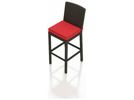 Forever Patio Quick Ship Barbados Ebony Wicker Bar Stool