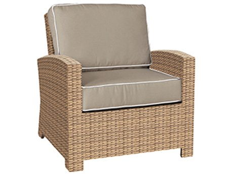 Forever Patio Quick Ship Barbados Biscuit Wicker Lounge Chair