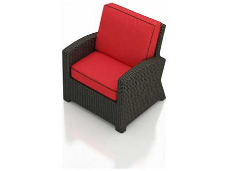 Forever Patio Quick Ship Barbados Ebony Wicker Lounge Chair