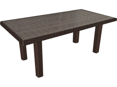 Forever Patio Barbados Ebony Wicker 65.5 x 34 Rectangular Chat Table