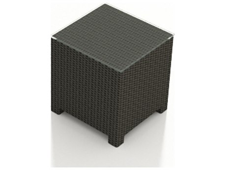 Forever Patio Barbados Ebony Wicker 20 Square End Table