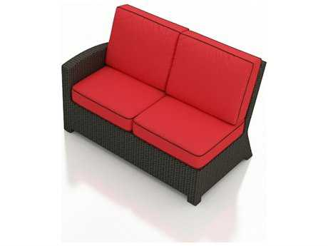 Forever Patio Barbados Ebony Wicker Sectional Left Arm Facing Loveseat