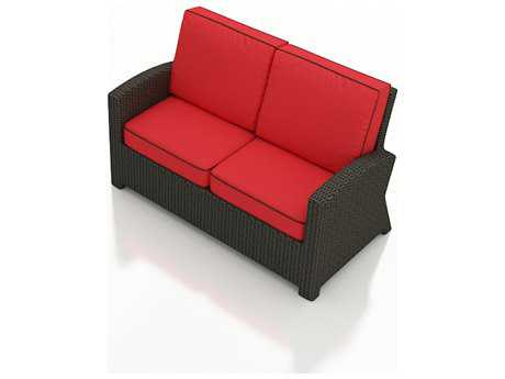 Forever Patio Barbados Ebony Wicker Loveseat