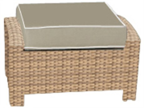 Forever Patio Barbados Biscuit Wicker Ottoman