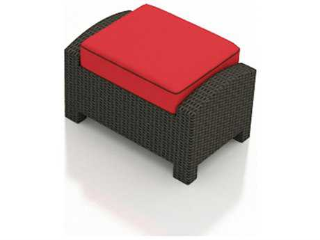 Forever Patio Barbados Ebony Wicker Ottoman