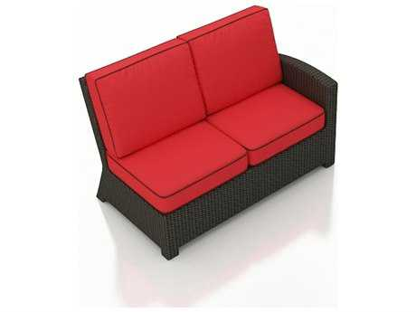 Forever Patio Barbados Ebony Wicker Sectional Right Arm Facing Loveseat